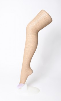 Fishnet tights with strass